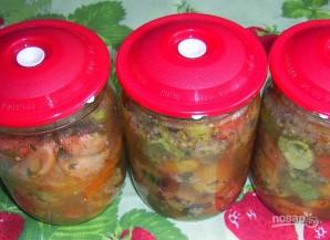 Салат на зиму из огурцов и помидоров - фото шаг 5
