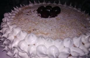 Бисквитный торт с вишнями - фото шаг 13
