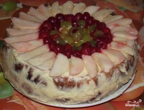 Бисквитный торт на скорую руку - фото шаг 11