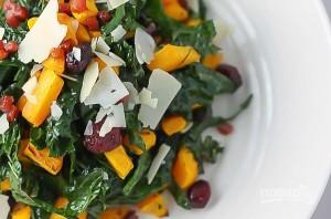 Салат с запеченной тыквой и кале - фото шаг 3