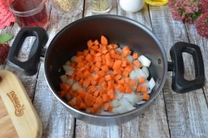 Перловая каша с фасолью, тыквой и беконом - фото шаг 4