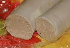 Блинчики с ливерной колбасой - фото шаг 4