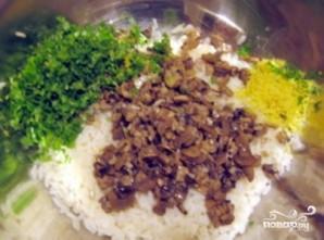Рис с шампиньонами - фото шаг 4