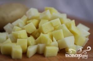 Летний суп-пюре из картофеля и цукини - фото шаг 1