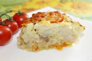 Рыба с цветной капустой в яично-майонезном соусе - фото шаг 12