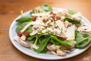 Салат со свежим шпинатом - фото шаг 6