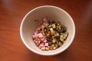 Закуска из ветчины и сыра - фото шаг 3