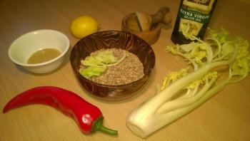 Салат из зеленой чечевицы диетический - фото шаг 1