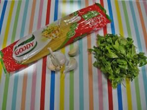 Спагетти с зеленью - фото шаг 1