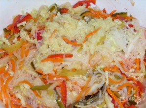 Салат из рисовой лапши - фото шаг 8