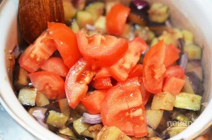 Суп из баклажанов с помидорами - фото шаг 2