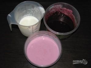 Слоеное ежевичное желе с йогуртом - фото шаг 3