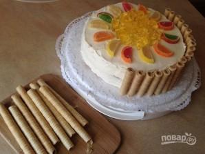 Бисквитный торт с лимонным вкусом - фото шаг 14