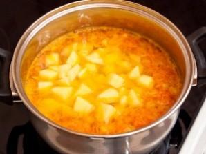 Сливочный суп с семгой - фото шаг 4