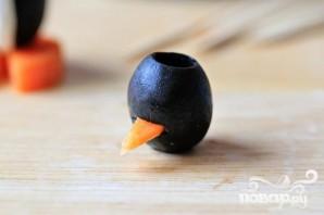 Пингвинчики из оливок и сыра - фото шаг 7