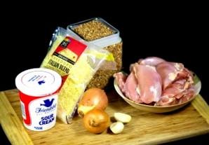 Запеканка из гречки и курицы - фото шаг 1