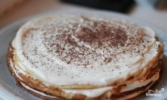 Блинный торт с кремом из сгущенки - фото шаг 7