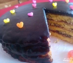 Торт с джемом - фото шаг 5