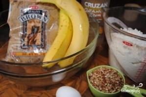 Банановые маффины с орехами - фото шаг 1