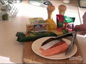 Спагетти с лососем в сливочном соусе - фото шаг 1