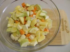 Печень с овощами в духовке - фото шаг 4