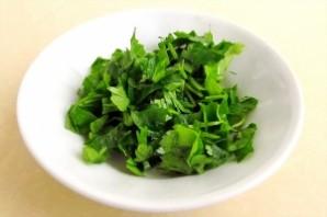 Крабовый салат с зеленым луком - фото шаг 8
