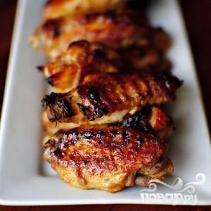 Крылышки с цедрой и соусом из кинзы - фото шаг 5