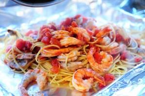 Креветки со спагетти - фото шаг 9