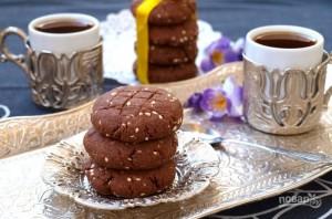 Песочное печенье с шоколадом и кунжутом - фото шаг 6