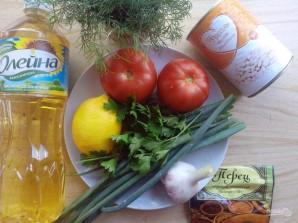 Салат с помидорами и фасолью - фото шаг 1
