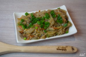 Рисовая лапша с овощами - фото шаг 8