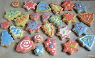 Новогоднее печенье с глазурью - фото шаг 9