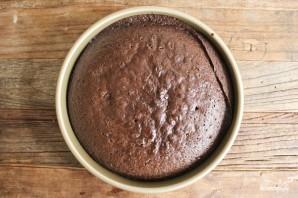 Шоколадный торт с ягодами - фото шаг 5
