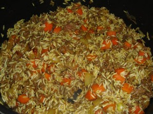 Рис с фаршем и морковью - фото шаг 4
