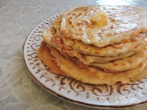 Лепешки с сыром на кефире на сковороде - фото шаг 13