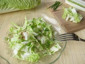 Салат из пекинской капусты с огурцом - фото шаг 7