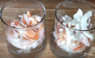 Новогодний салат-коктейль - фото шаг 6