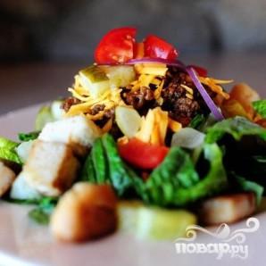 """Салат """"Чизбургер"""" - фото шаг 6"""