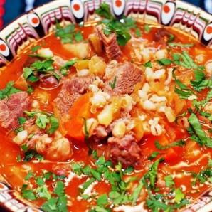 Суп из перловой крупы с мясом - фото шаг 8