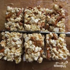 Пирожные из попкорна с миндалем - фото шаг 7