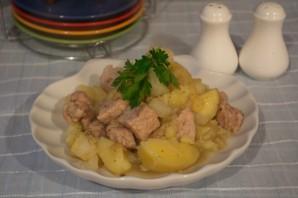Свинина, тушеная с картошкой - фото шаг 8