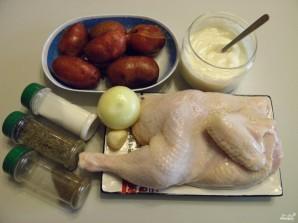 Картошка с курицей в духовке под соусом - фото шаг 1