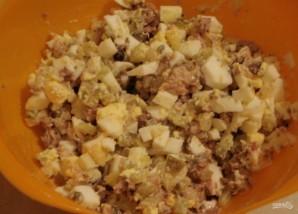 Рыбный салат из консервов сайры - фото шаг 4