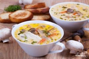 Суп из плавленых сырков с грибами - фото шаг 8