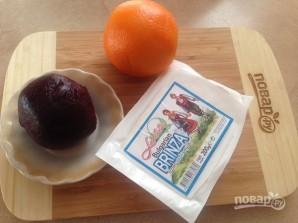 Салат со свеклой, брынзой и апельсином - фото шаг 1