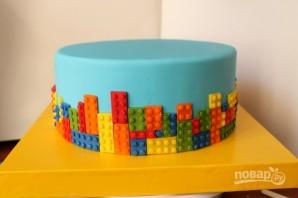 "Торт с человечками ""Лего"" - фото шаг 4"