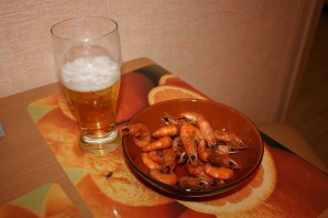 Креветки жареные в панцире - фото шаг 6