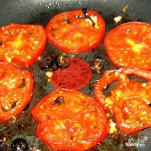 Пирог с жареными помидорами и маслинами - фото шаг 3