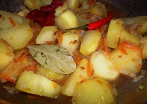 Вегетарианский бигус - фото шаг 7