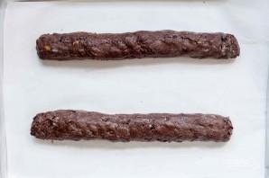Шоколадные бискотти с клюквой и фисташками - фото шаг 4